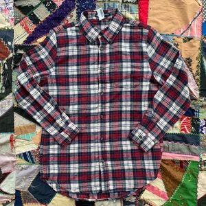 NWT Brandy Melville Soft Plaid Flannel Button Down